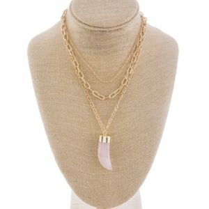 Jewelry - Rose Quartz Horn Necklace